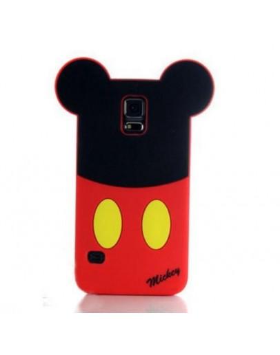 "Carcasa protectie spate ""Mickey"" din silicon pentru Samsung Galaxy S5"
